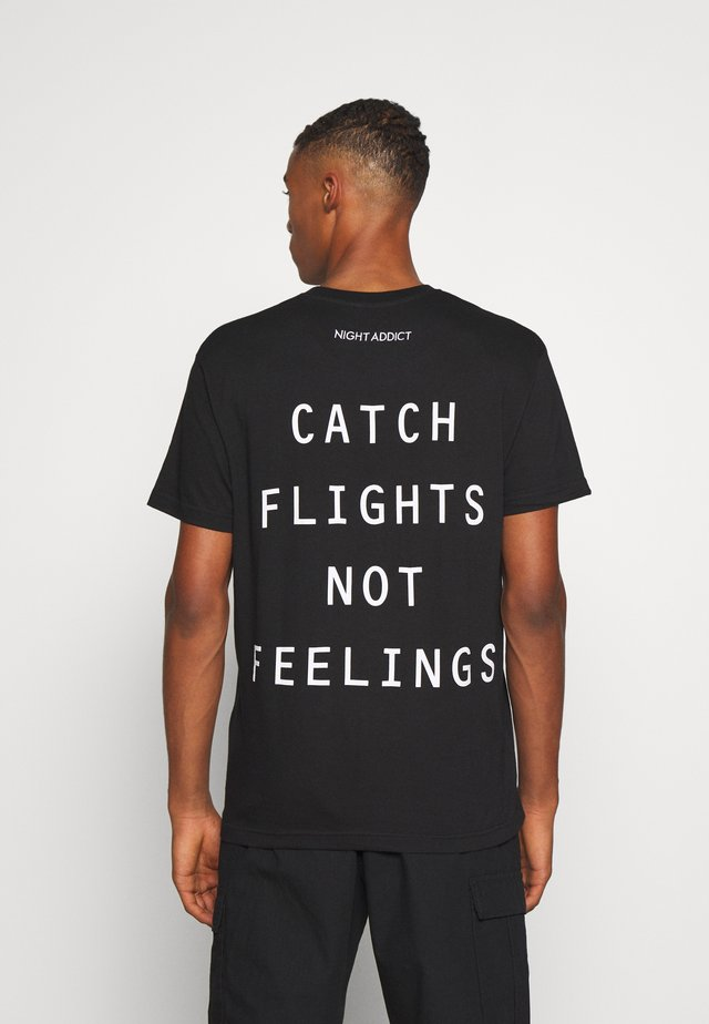 BOARDIN - Print T-shirt - black