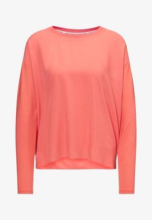 LONG SLEEVE - Blouse - mottled pink