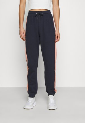 ONLASHLEY PANTS - Tracksuit bottoms - night sky blue/rose/ moonbeam