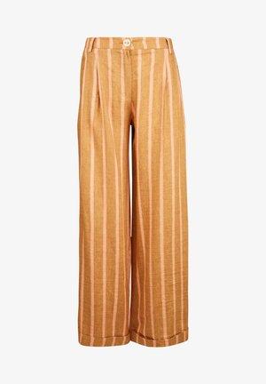 PALAZZO  GESTREIFT - Trousers - caramel rose