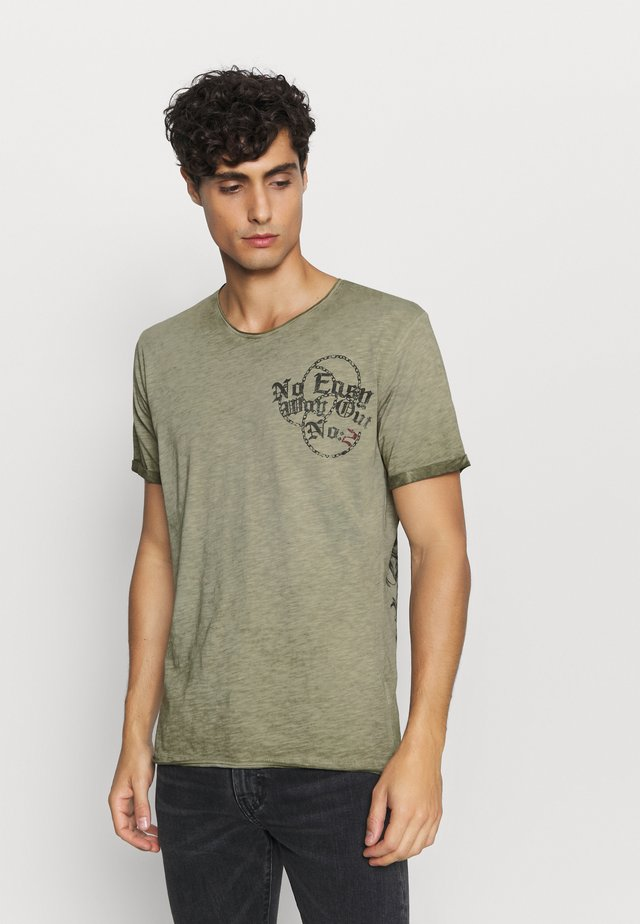 EASY ROUND - Print T-shirt - green