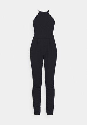 YELDA SCALLOP NECK - Jumpsuit - navy blue