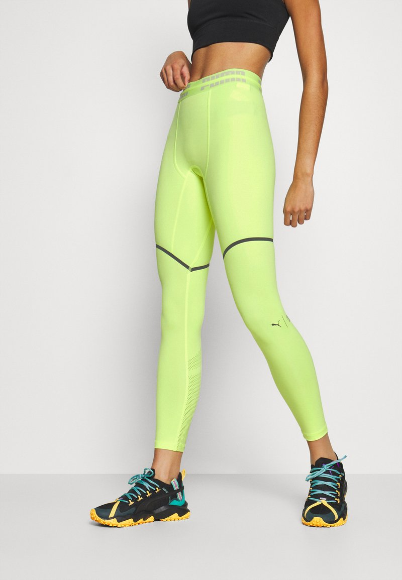 Puma - FIRST MILE EXTREME EXO-ADAPT LONG TIGHT - Medias - fizzy yellow