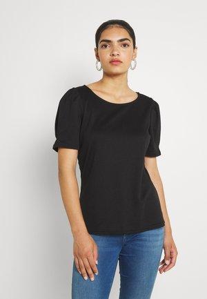 VITINNY O NECK PUFF - Basic T-shirt - black