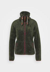 COLONY - Fleece jacket - dark olive