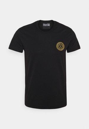 T-shirt print - nero/oro