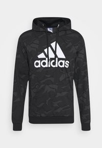 adidas Performance - Bluza z kapturem - black/white - 3