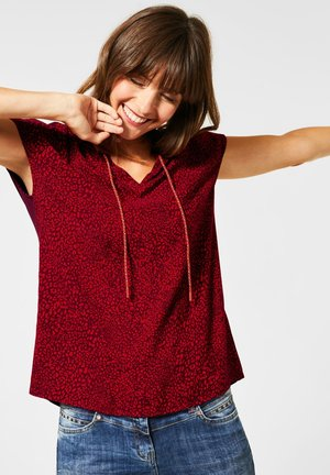BLUSE MIT LEOMUSTER - Blouse - rot
