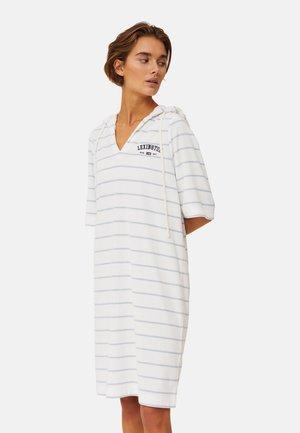 Day dress - offwhite/light blue stripe