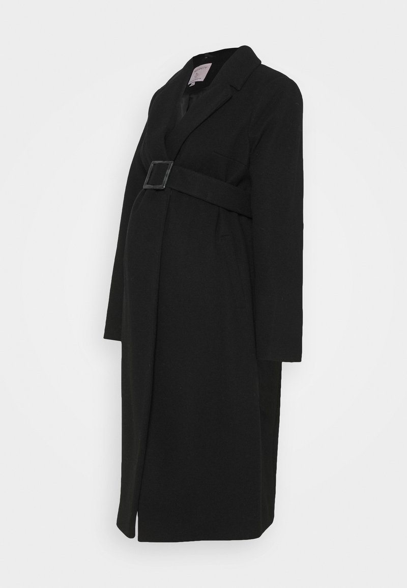 Dorothy Perkins Maternity - BELTED WRAP COAT - Classic coat - black