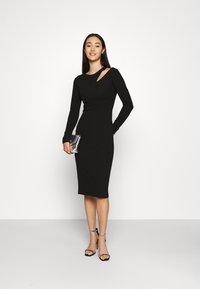 WAL G. - HATTIE CUT OUT MIDI DRESS - Jersey dress - black - 1