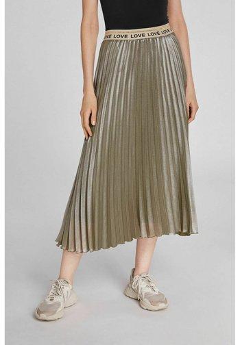 IN MIDILÄNGE - A-line skirt - silver gunmetal