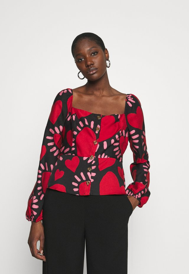 HEARTS LONG SLEEVE BLOUSE - Camicetta - multi