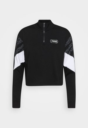 REBEL ZIP CREW - Felpa - black/untamed