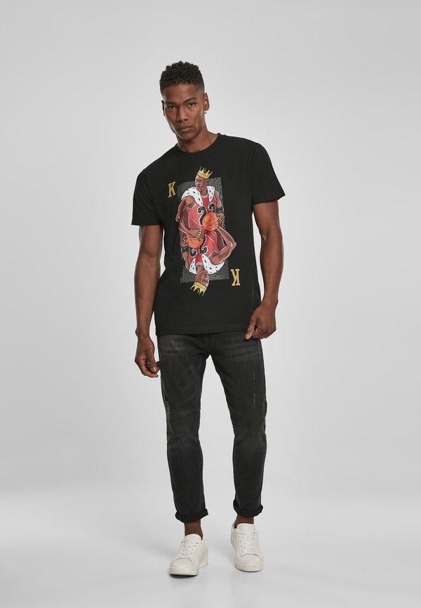 Mister Tee KING - T-shirt z nadrukiem - black/czarny Odzież Męska WXPI