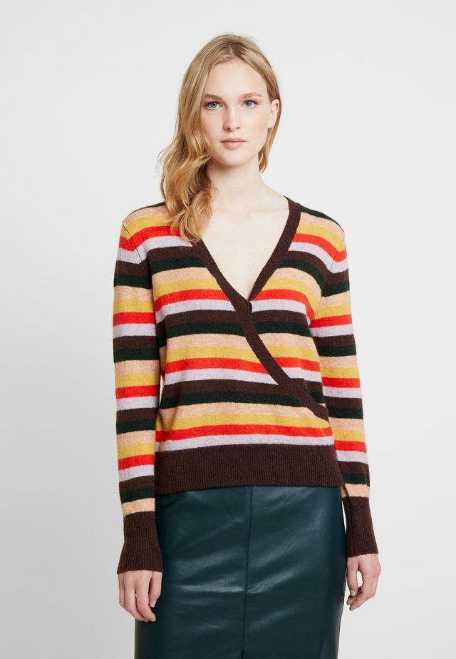 STRIPE WRAP FRONT - Pullover - multi-coloured