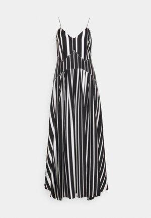 PLEAT DETAIL CAMI DRESS - Galajurk - black/off white