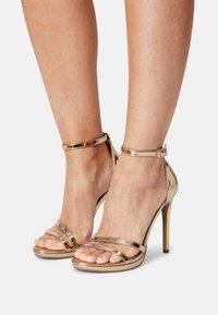 Steve Madden - BRYDGET - Platform sandals - rose gold - 0