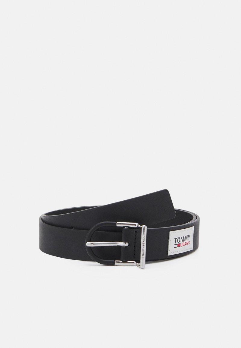 Tommy Jeans - FASHION COLOURBUCKLE BELT - Vyö - black