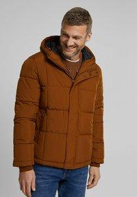 Esprit - BASIC PUFFER - Winter jacket - toffee - 0