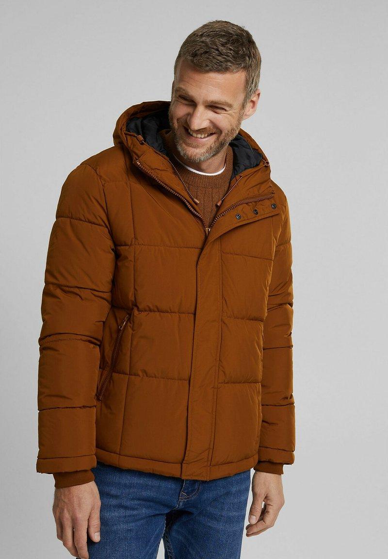 Esprit - BASIC PUFFER - Winter jacket - toffee