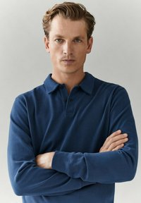 Massimo Dutti - MIT LANGEN ÄRMELN - Polo shirt - blue - 2