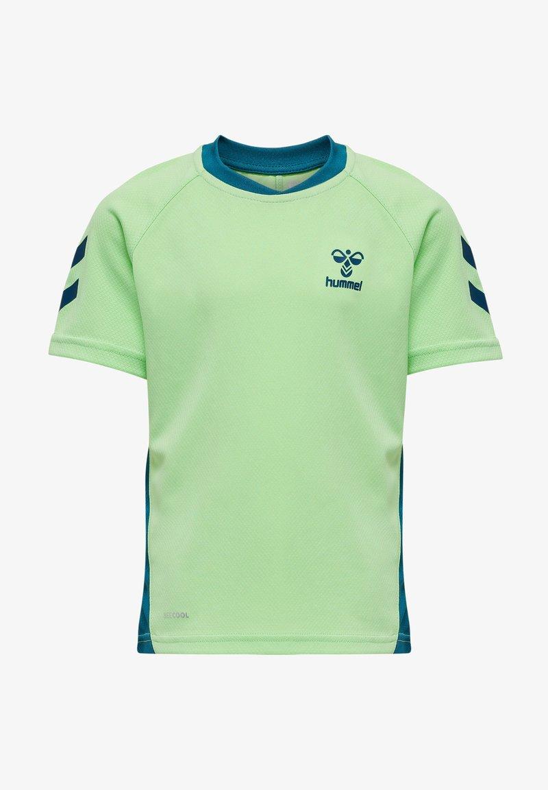 Hummel - ACTION  - Print T-shirt - green ash/blue coral