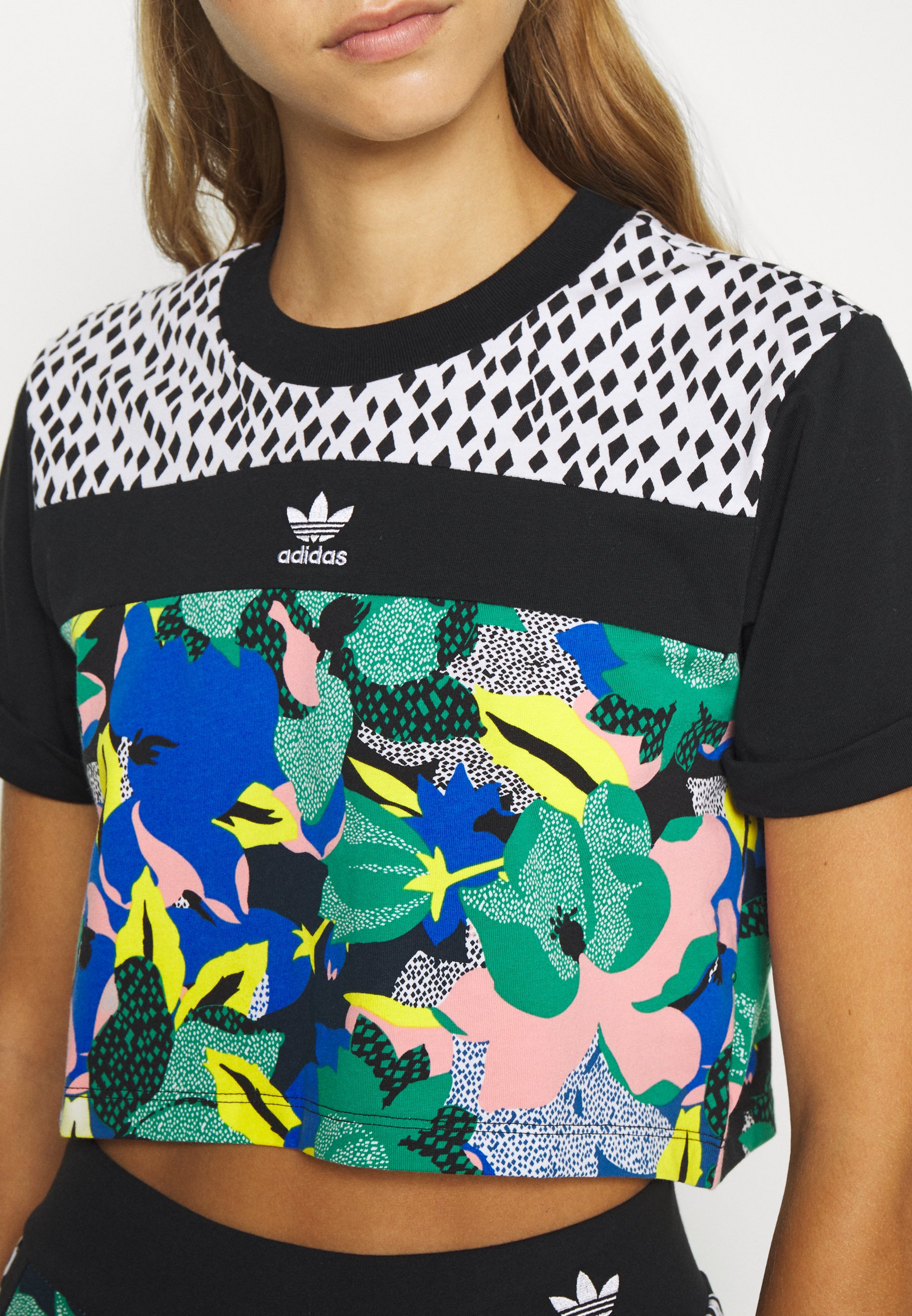 Adidas Originals Cropped Tee - T-shirts Med Print Multi Coloured/flerfarget