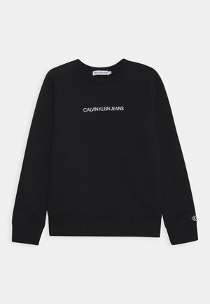 EMBROIDERED LOGO UNISEX - Sweater - black