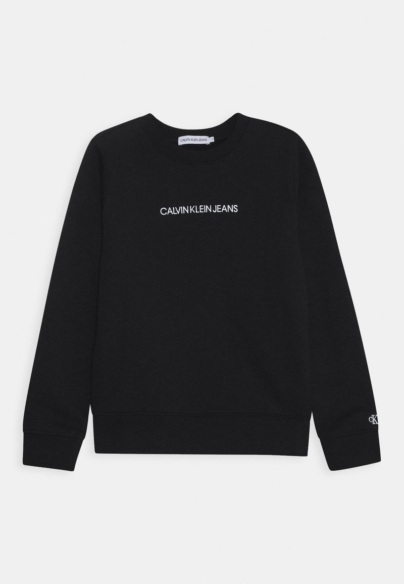 Calvin Klein Jeans - EMBROIDERED LOGO UNISEX - Sweater - black