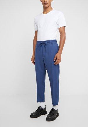 ELASTIC CROP GEORGE SERGE - Suit trousers - blue