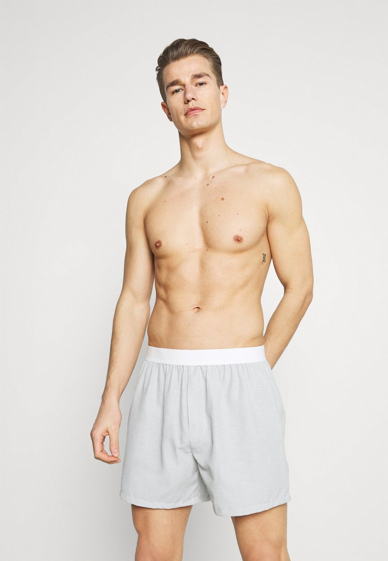 Pier One - 3 PACK - Boxer shorts - light grey