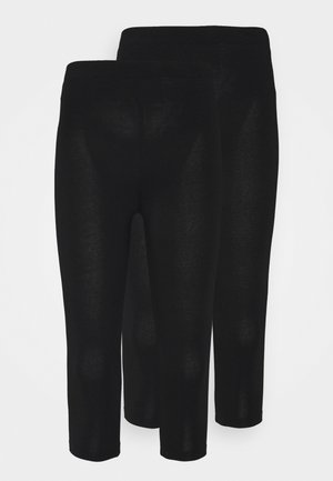 2 PACK - Leggings - Trousers - black