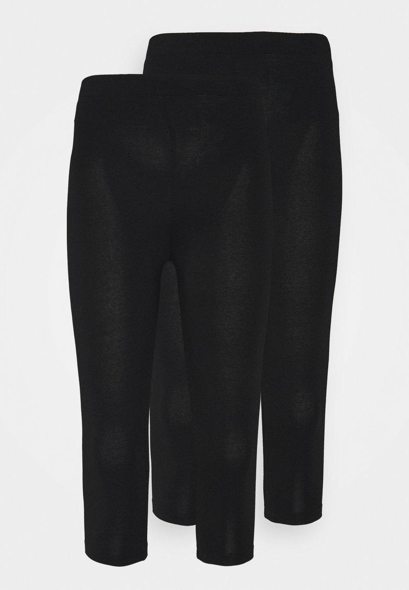 Even&Odd Petite - 2 PACK - Leggings - Trousers - black
