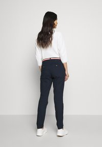 TOM TAILOR - BELTED SLIM - Chinos - sky captain blue - 2