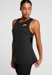 Nike Performance - YOGA TANK KEYHOLE - Funkční triko - black/vast grey - 0