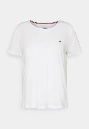 SLIM CNECK - T-shirt basique - white