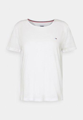 SLIM CNECK - T-shirts - white