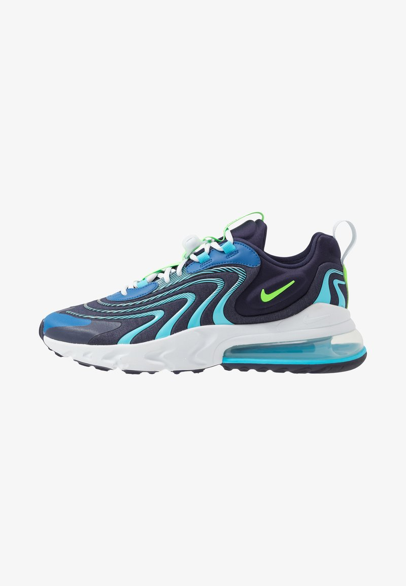 Nike Sportswear - AIR MAX 270 REACT ENG - Sneakers - blackened blue/green strike/pure platinum/team royal/blue fury/aura