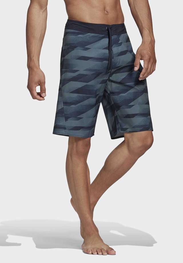 KNEE LENGTH GRAPHIC BOARD SHORTS - Bañador - green
