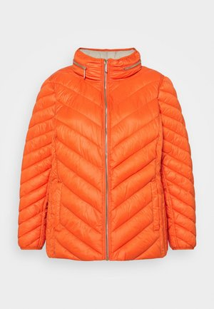 WOMENS ZIP FRONT CHEVRON PACKABLE - Light jacket - zinnia