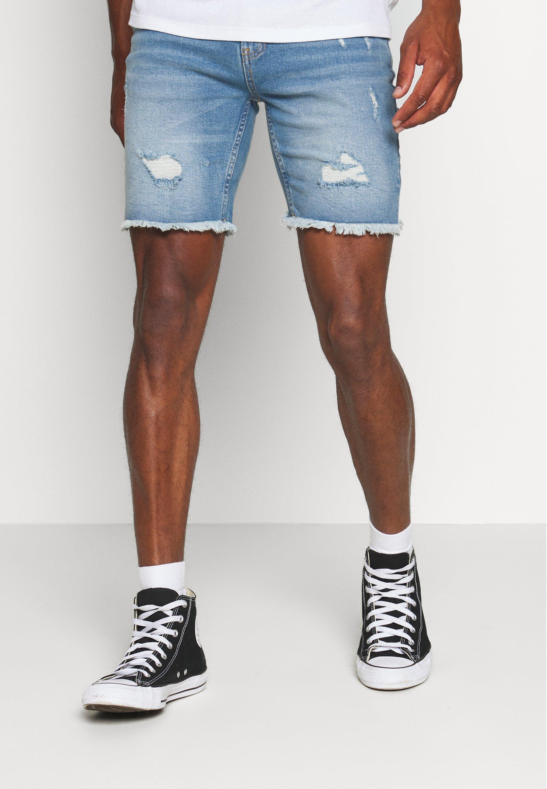 Men Denim shorts - blue heavy