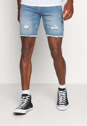 Denim shorts - blue heavy