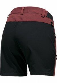 Haglöfs - Sports shorts - maroon red/true black - 5