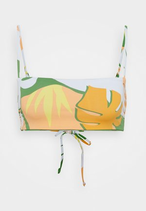 WILDFLOWERS BANDEAU - Bikini top - turf green undertone