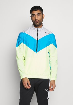 TRAIN FIRST MILE XTREME JACKET - Trainingsvest - grey vilet /energy blue/fizy yellow