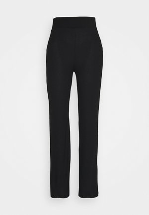 HIGH WAISTED PANTS - Trousers - black