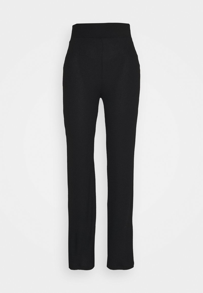NA-KD - HIGH WAISTED PANTS - Trousers - black