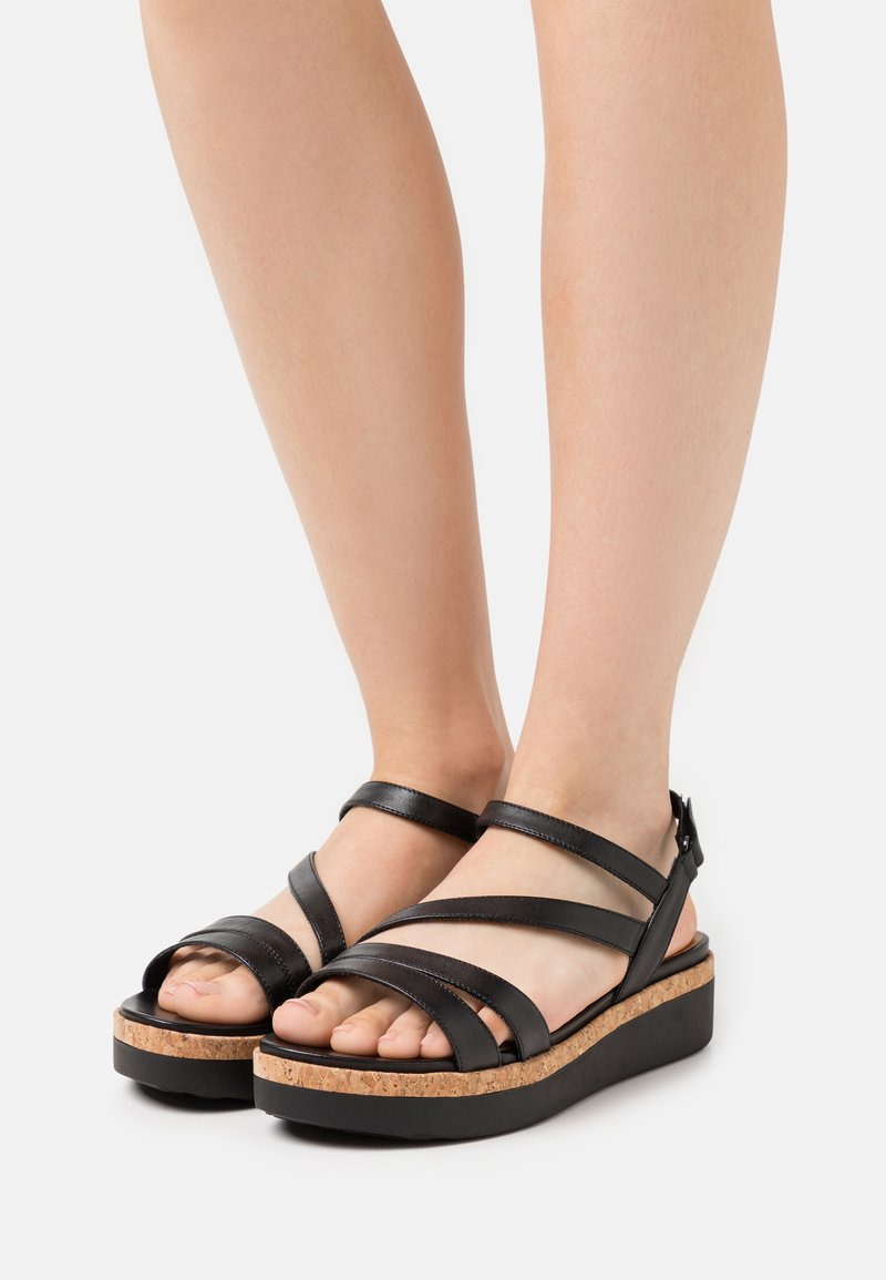 Tamaris GreenStep - Platform sandals - black