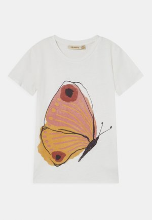 BASS  - T-shirt med print - snow white/brimstone